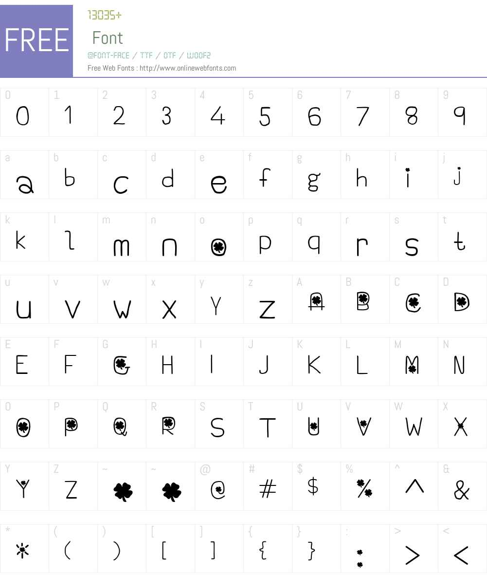 Emerald Isle Font Screenshots