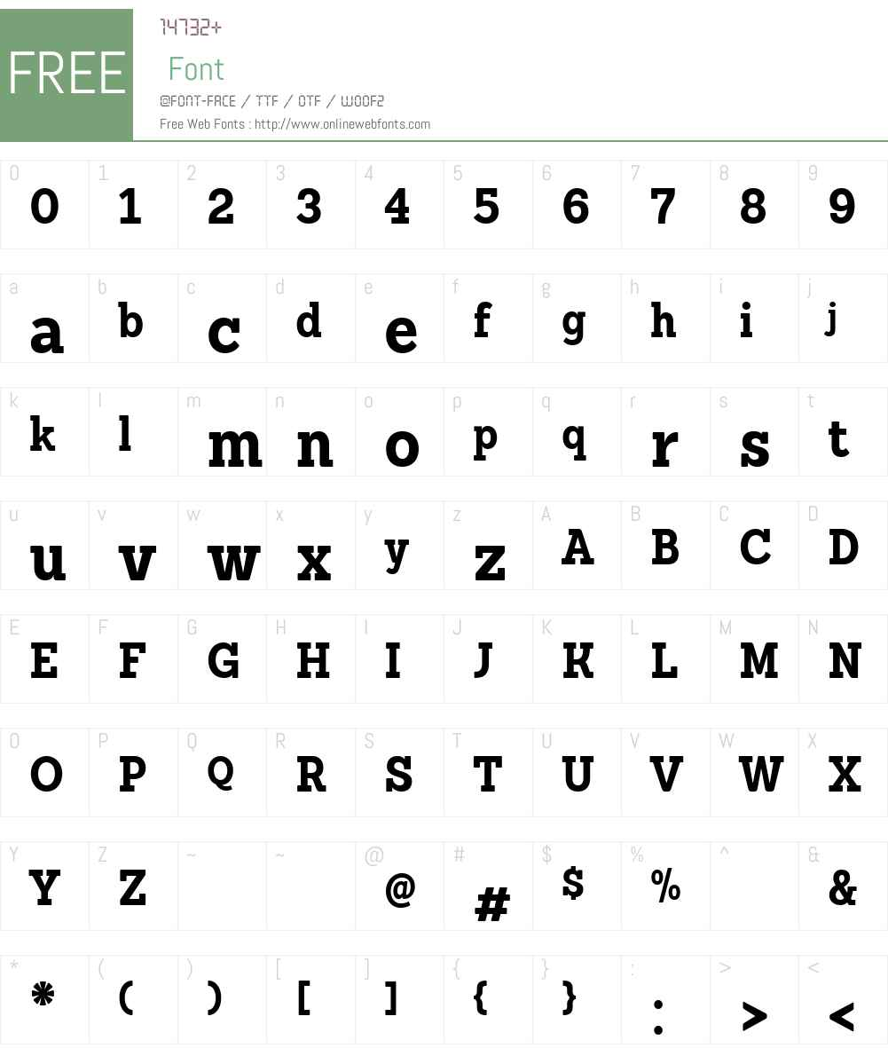 SanchezCndW03-Bold Font Screenshots