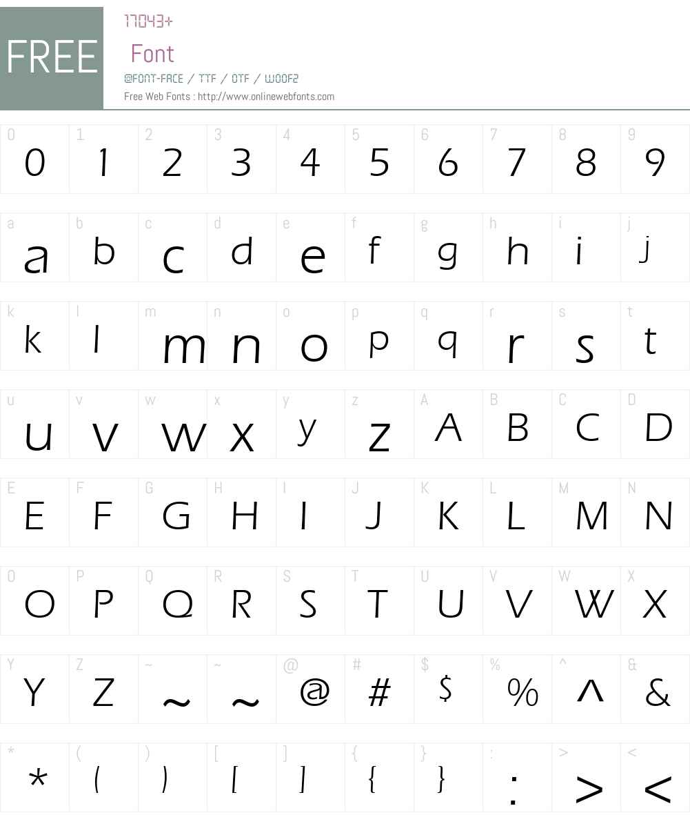 Erie Font Screenshots