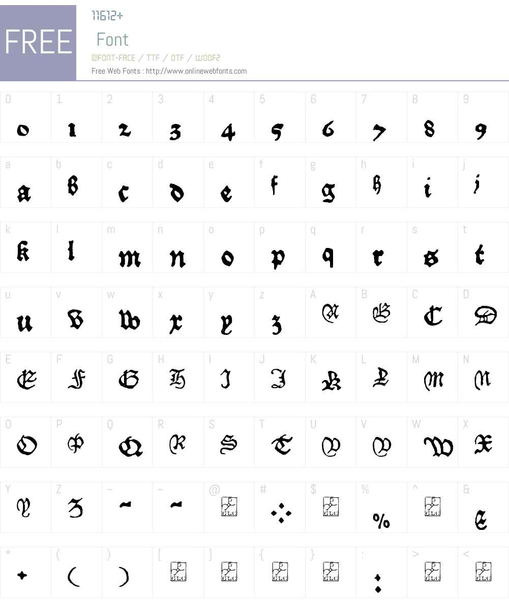 1479 Caxton Font Screenshots