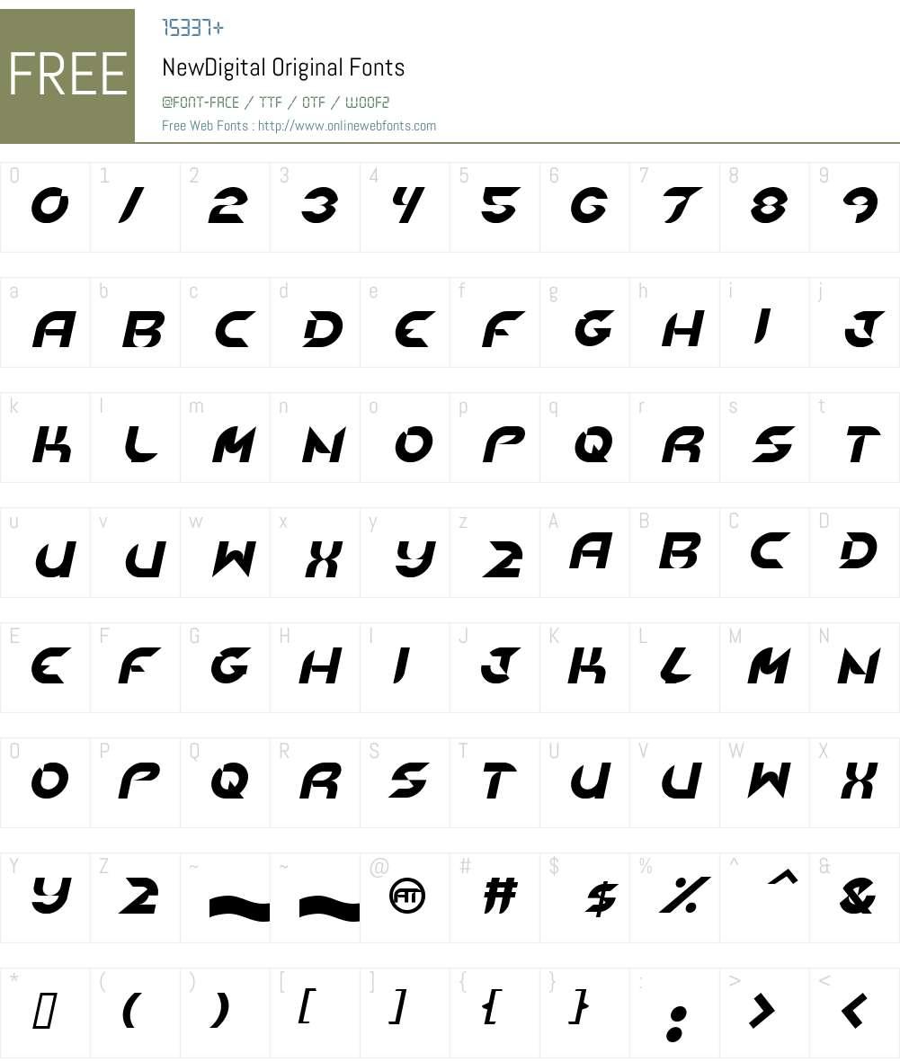 NewDigital Font Screenshots