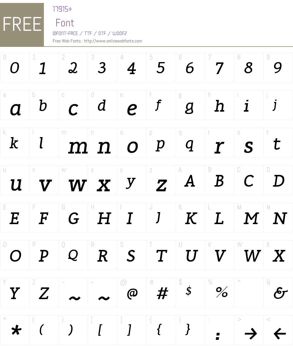 Karlo Serif Font Screenshots