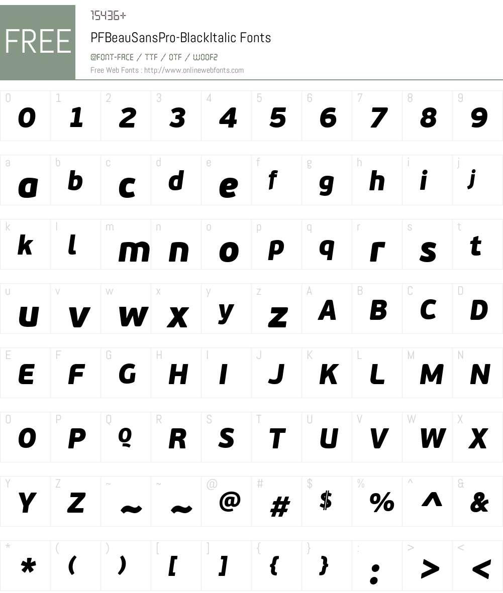 PF BeauSans Pro Font Screenshots