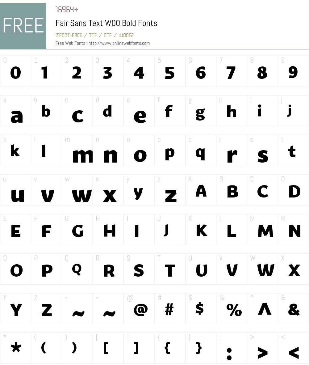 FairSansTextW00-Bold Font Screenshots