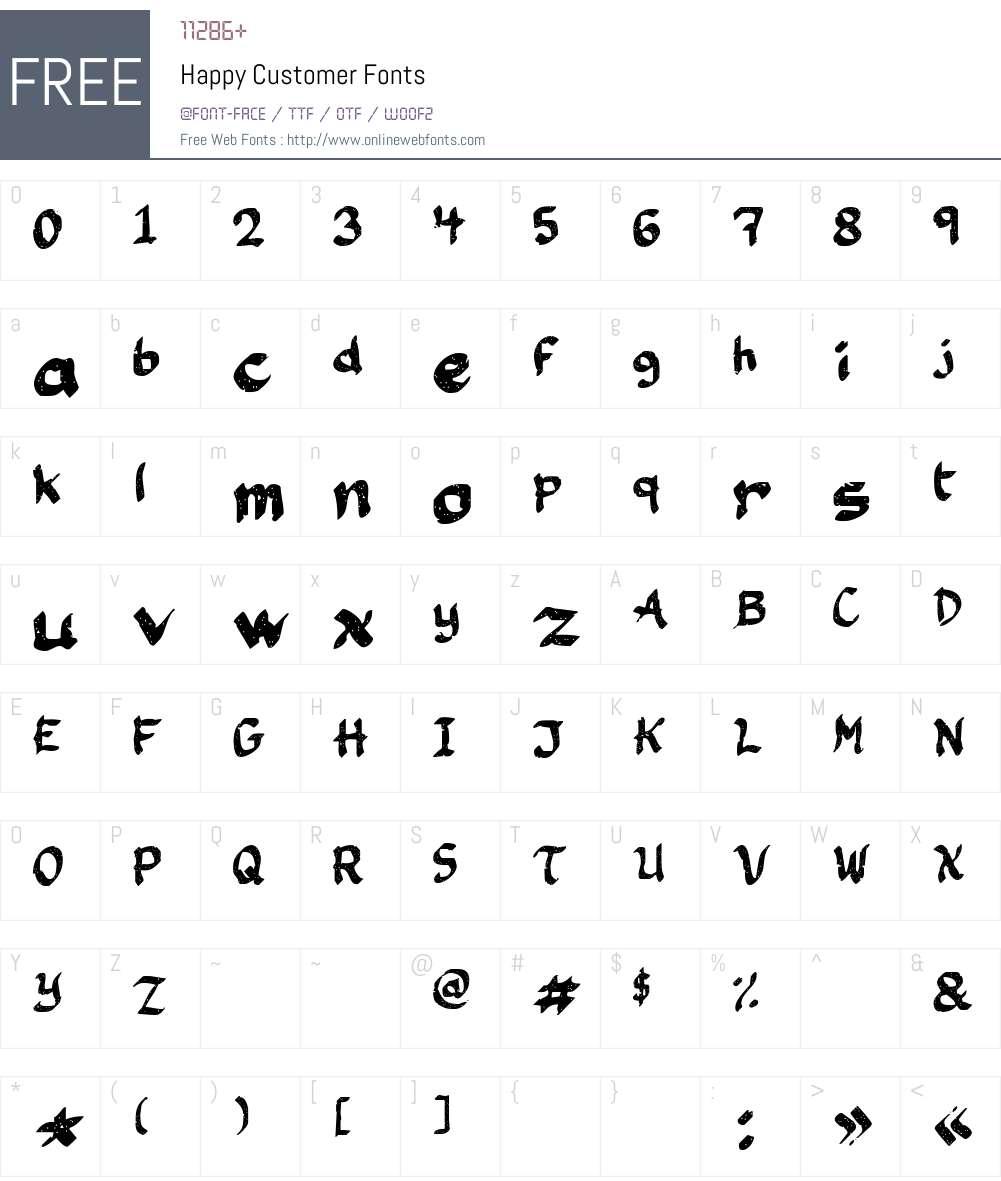 Happy Customer Font Screenshots