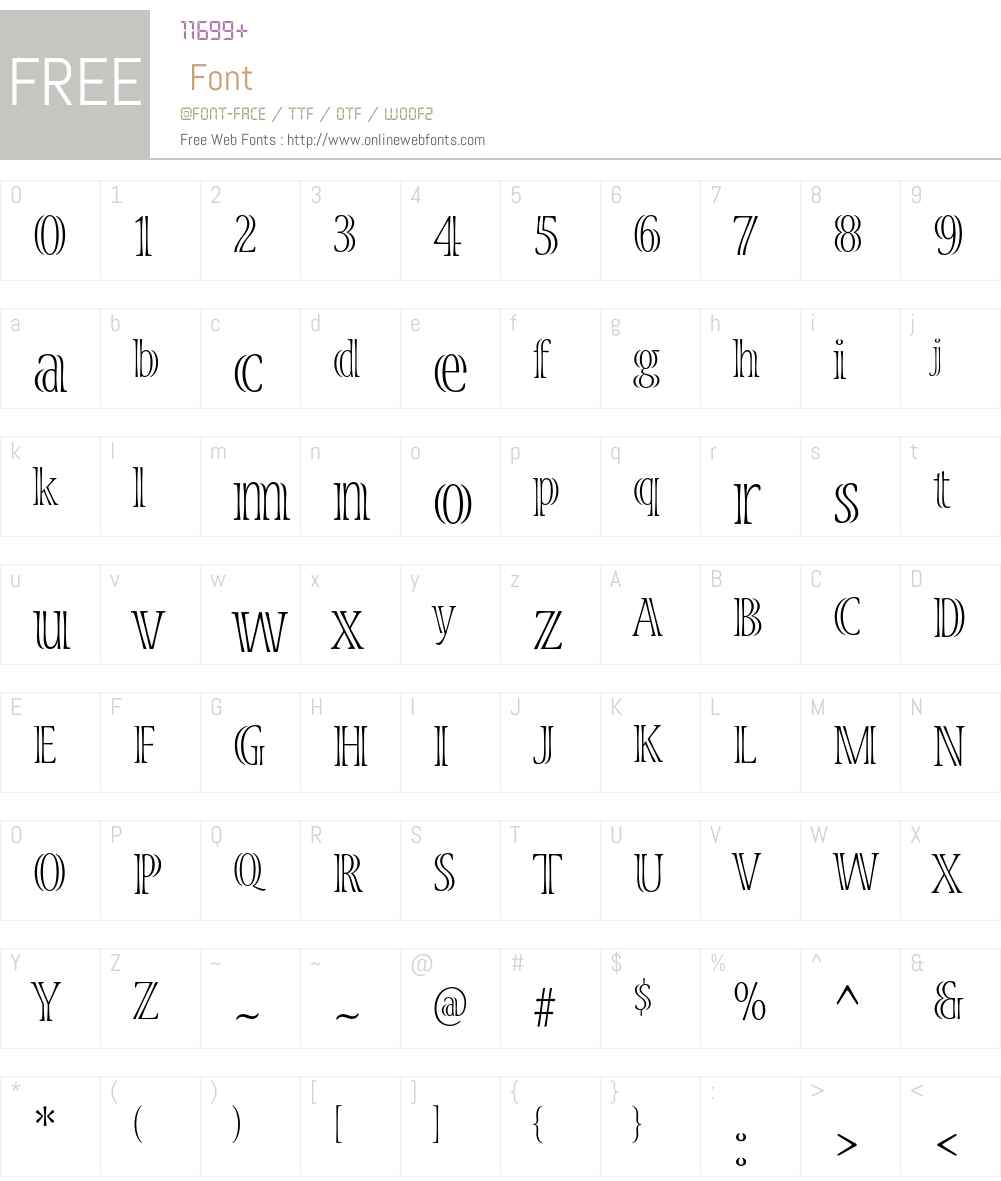 Viva Std Font Screenshots