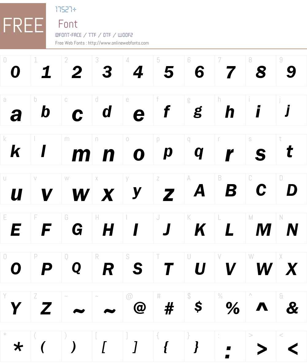 Franklin Gothic Demi Font Screenshots