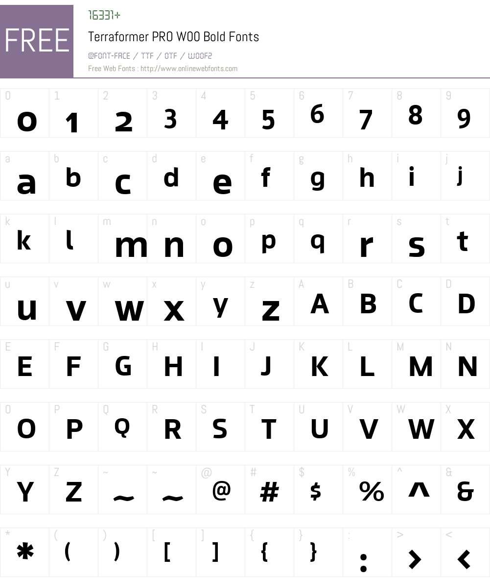 Terraformer Font Screenshots