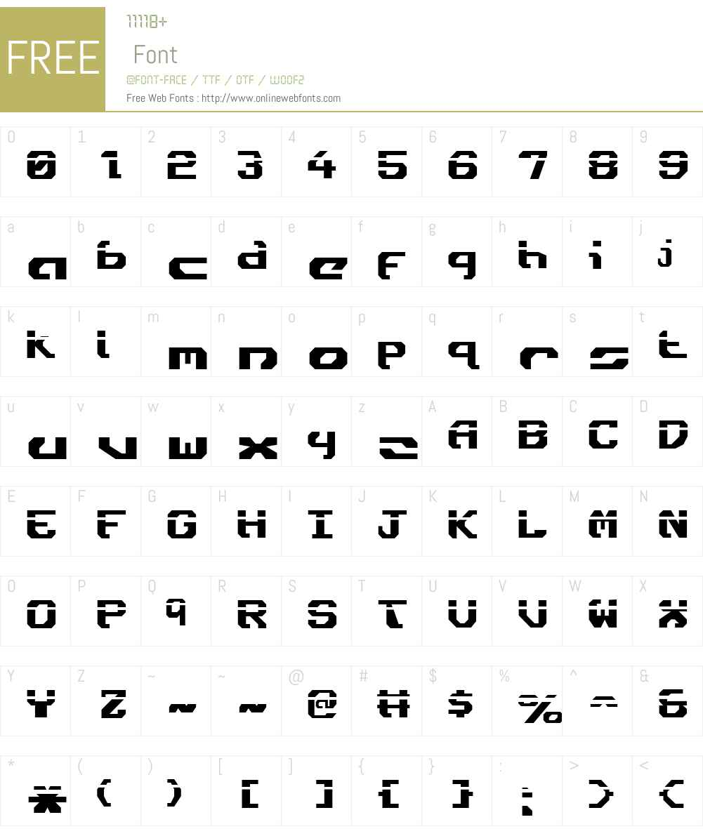 Ensign Flandry Laser Font Screenshots