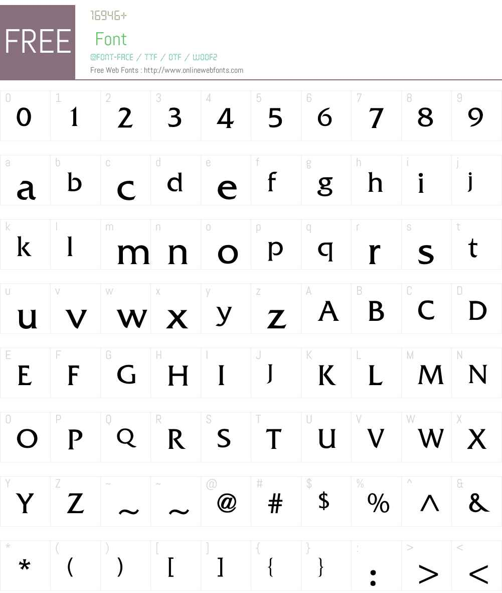 Whitethorning Font Screenshots