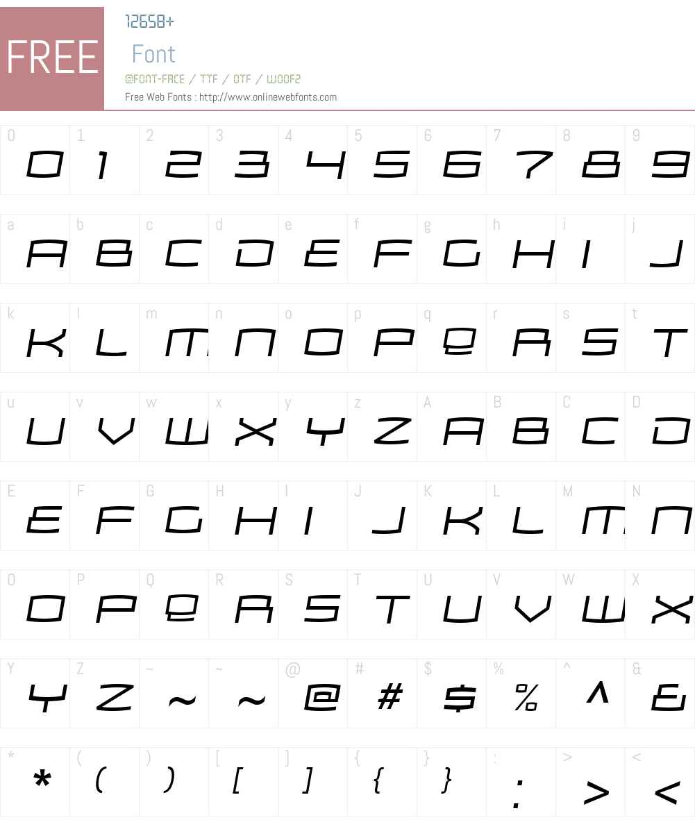 Zosma Light Font Screenshots