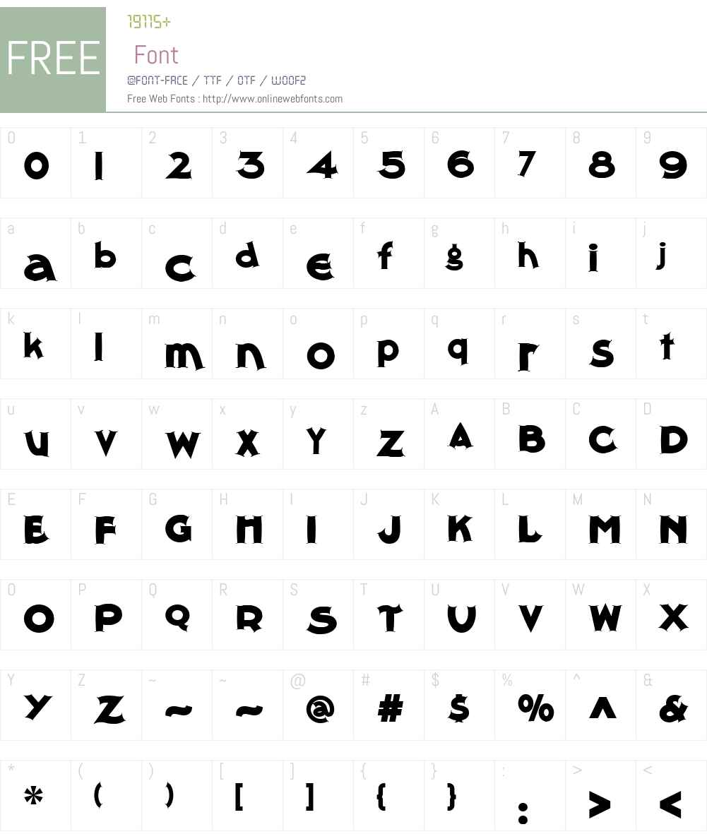 ThimbleTheatreNFW01-Regular Font Screenshots