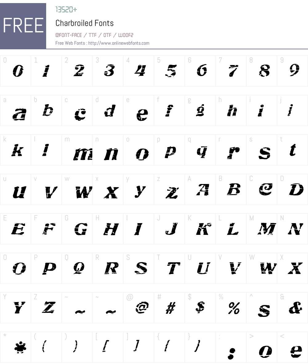 Charbroiled Font Screenshots