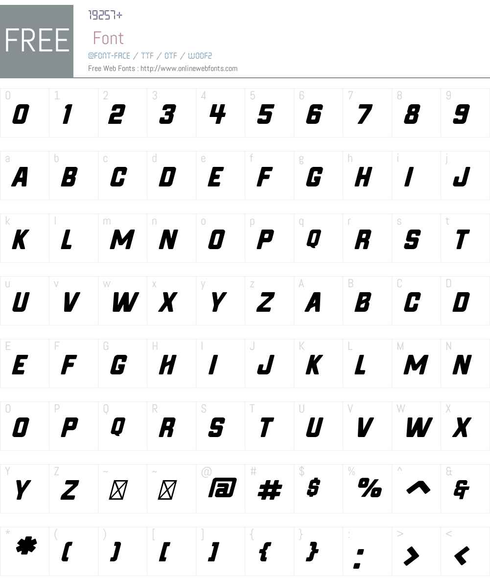 Hochstadt Rounded Oblique Font Screenshots