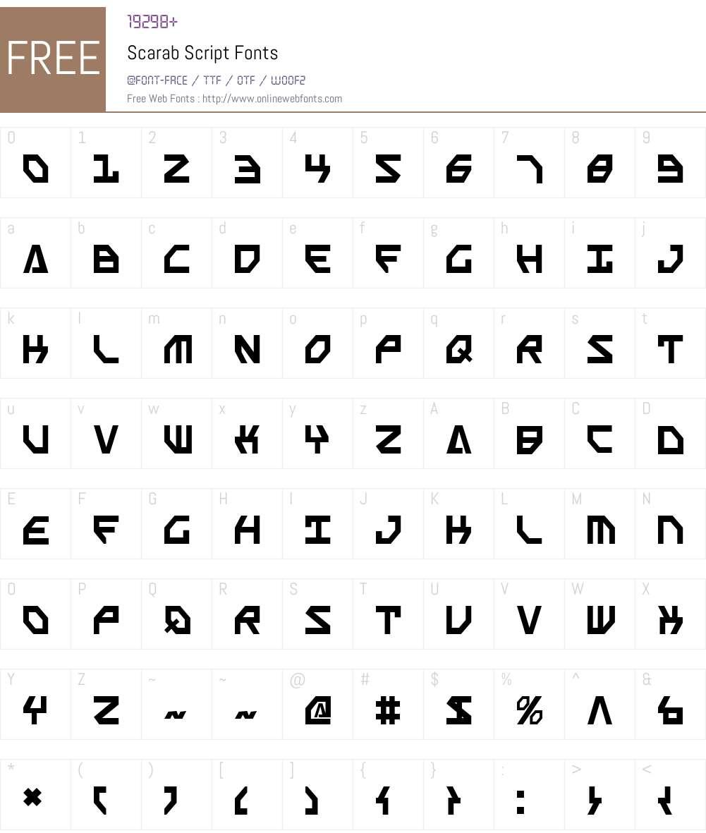 Scarab Script Font Screenshots