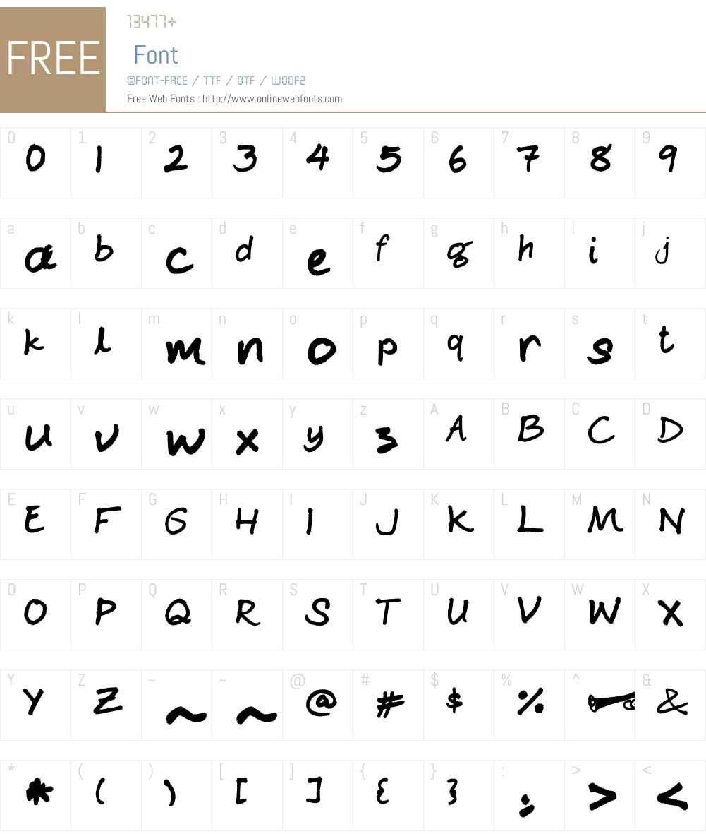 Ginjah Ninjah Font Screenshots