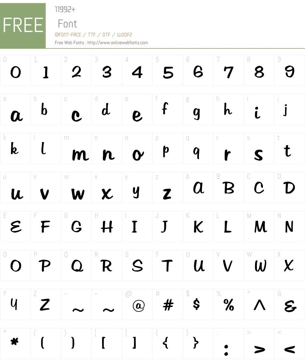 Tabitha Font Screenshots