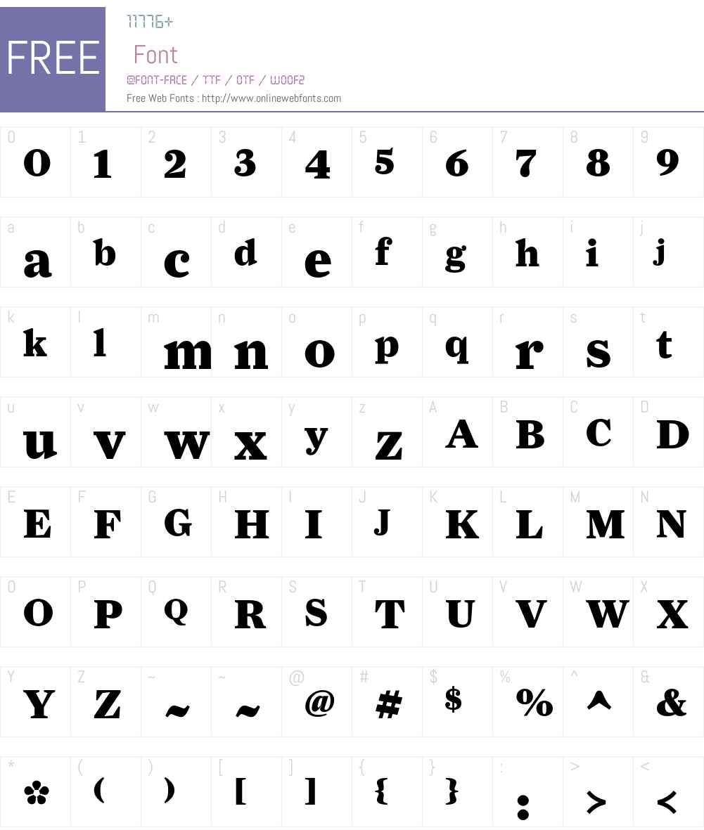 FarnhamDisplay-Black Font Screenshots