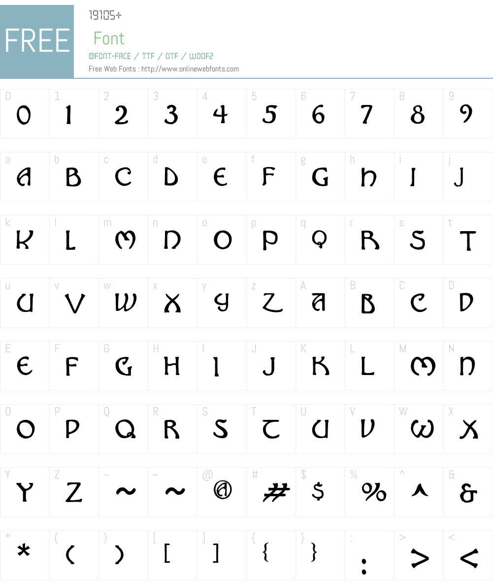 Hadley Font Screenshots