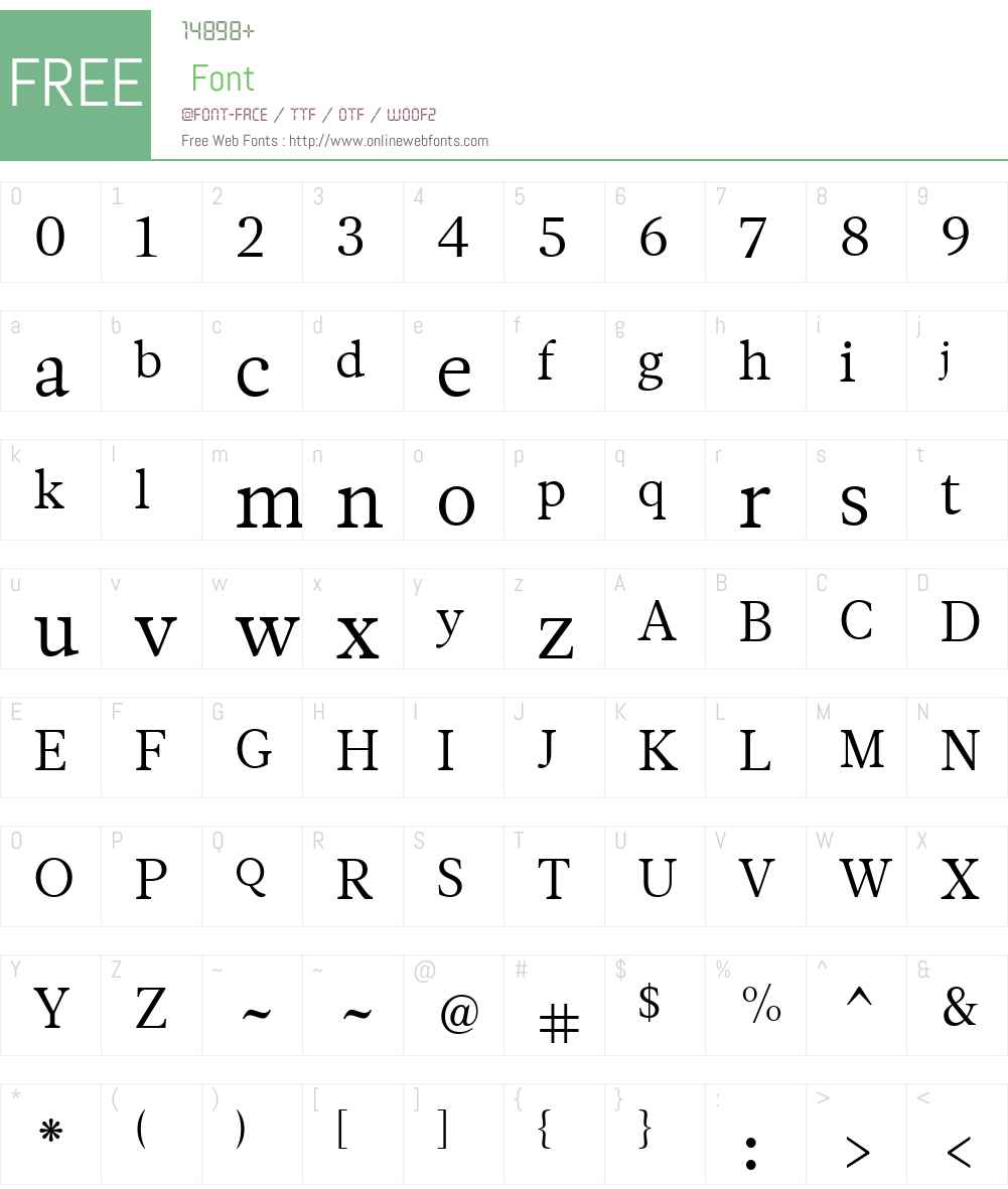 Leitura News Font Screenshots
