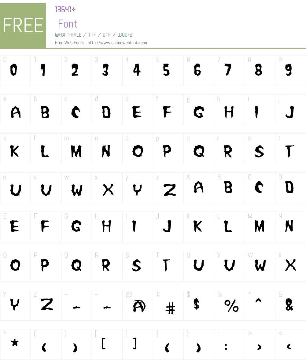 Misfit2 Font Screenshots