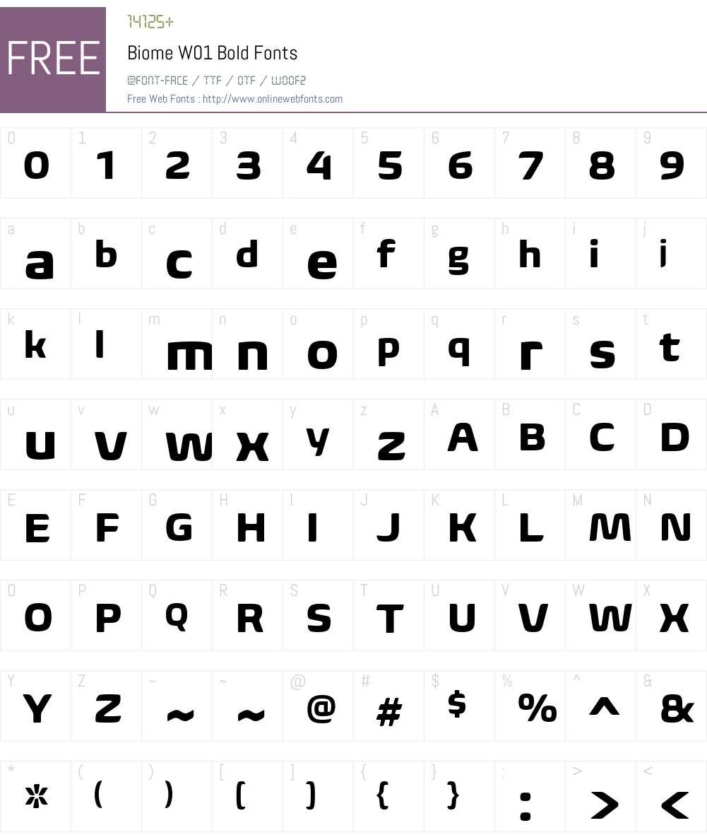 BiomeW01-Bold Font Screenshots