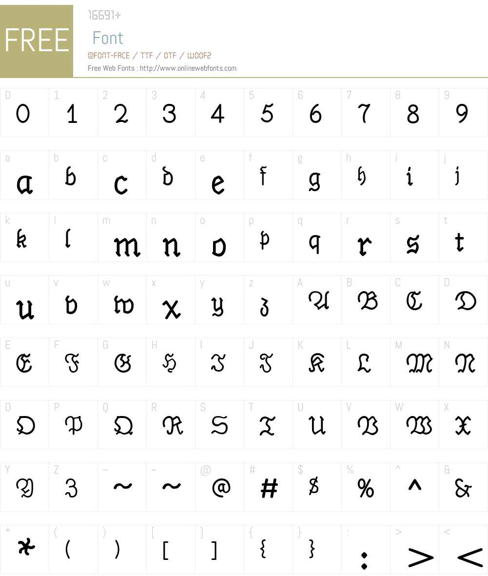 PhrackSleW00-Bold Font Screenshots