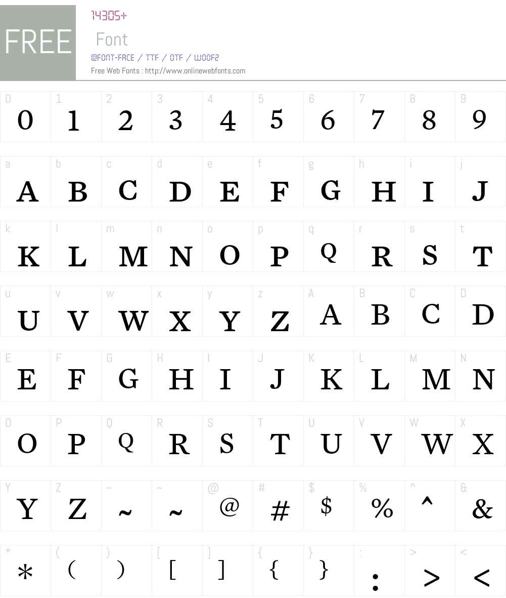 Mercury Text G3 Font Screenshots
