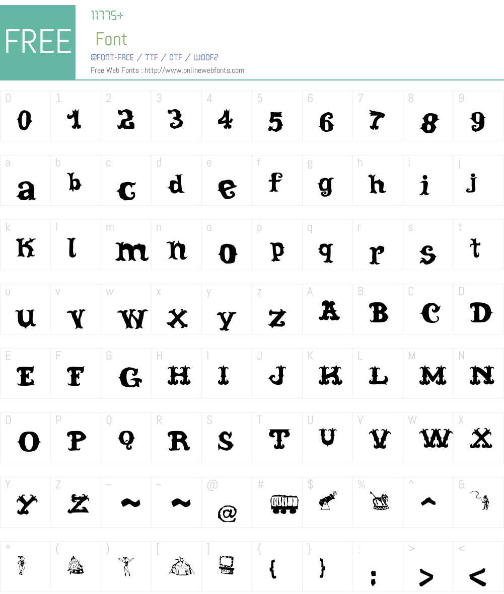 Cordel Circo Mambembe Soft Font Screenshots