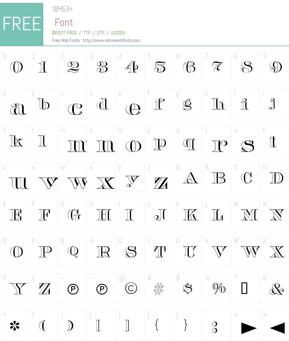 Barclay Open Font Screenshots
