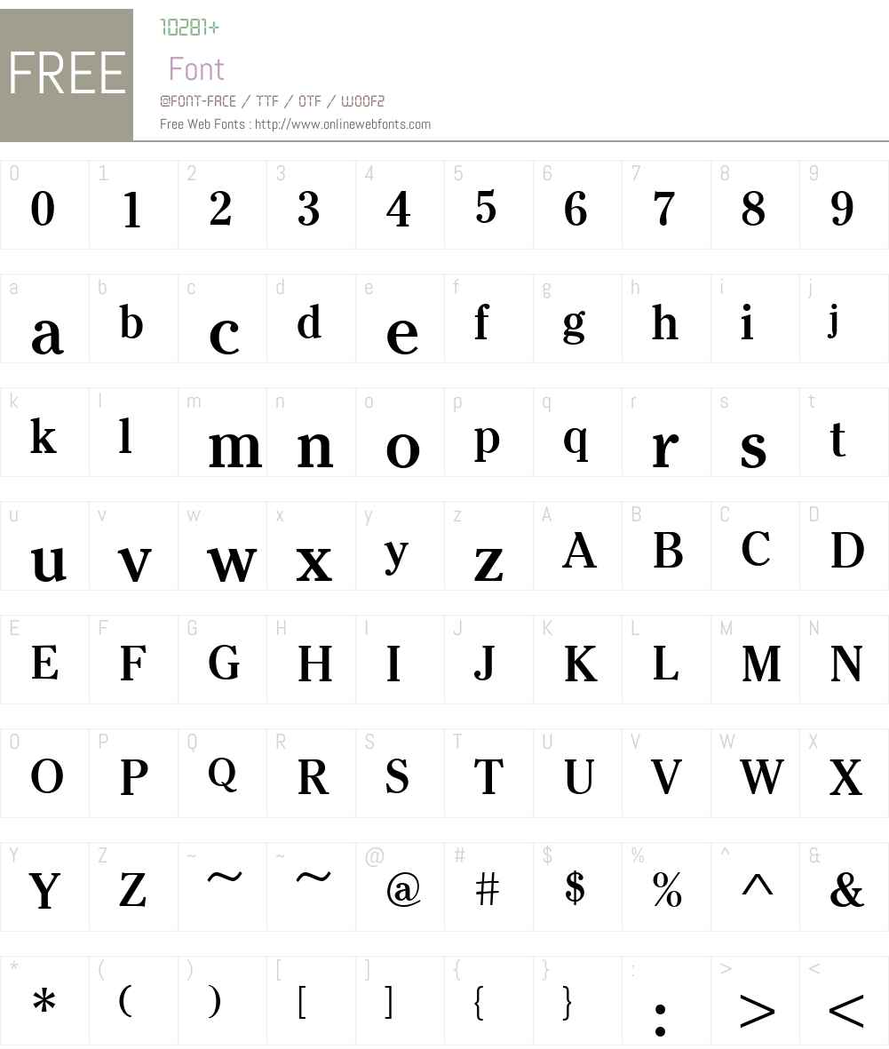 URWCriterionW01-Medium Font Screenshots