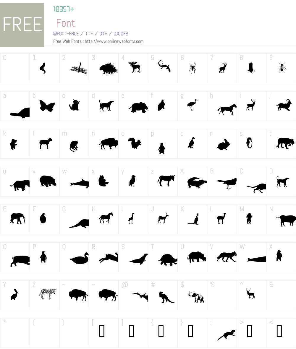 Mers Animals Font Screenshots