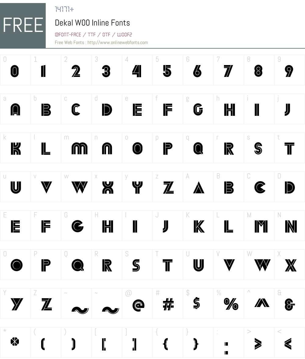 DekalW00-Inline Font Screenshots
