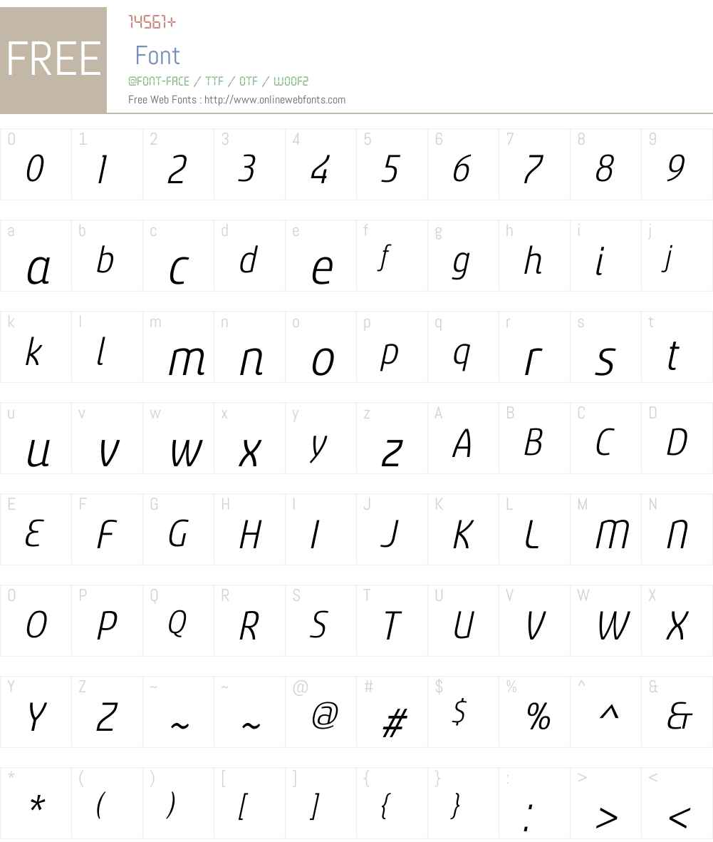 SancoaleNarrowW01-RegularIt Font Screenshots