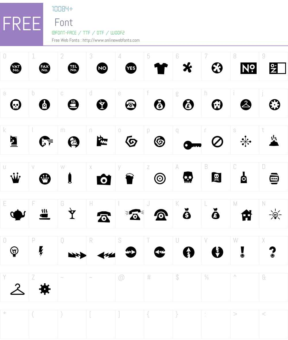RiansDingbats Font Screenshots