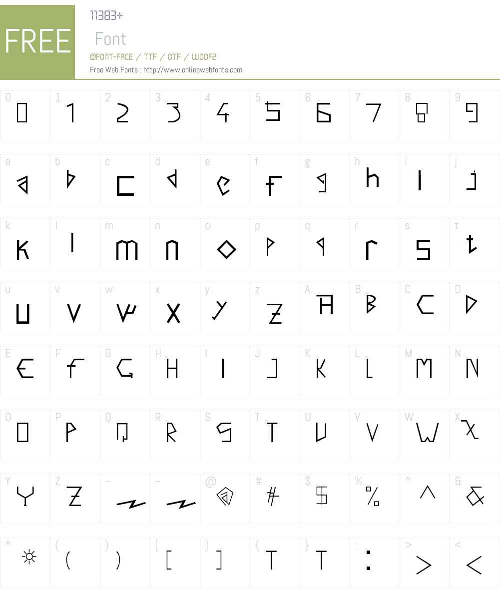 Salto Font Screenshots