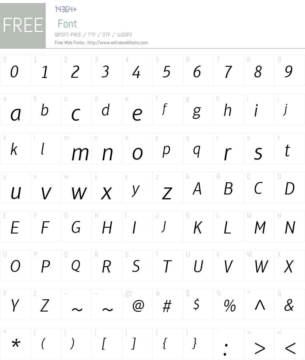 AptiferSansLTW01-LightIt Font Screenshots
