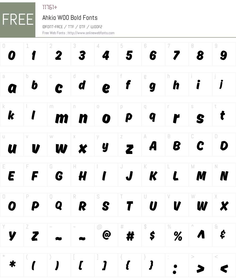 AhkioW00-Bold Font Screenshots