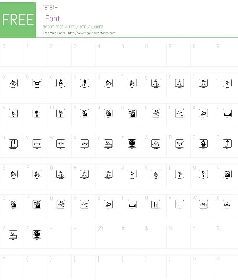 ICONO BMX Font Screenshots