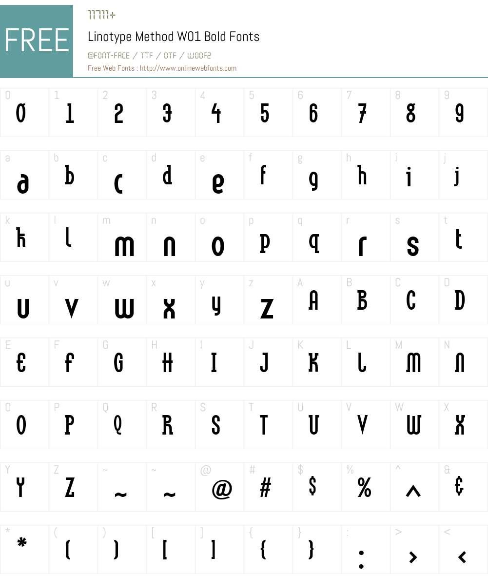 LinotypeMethodW01-Bold Font Screenshots