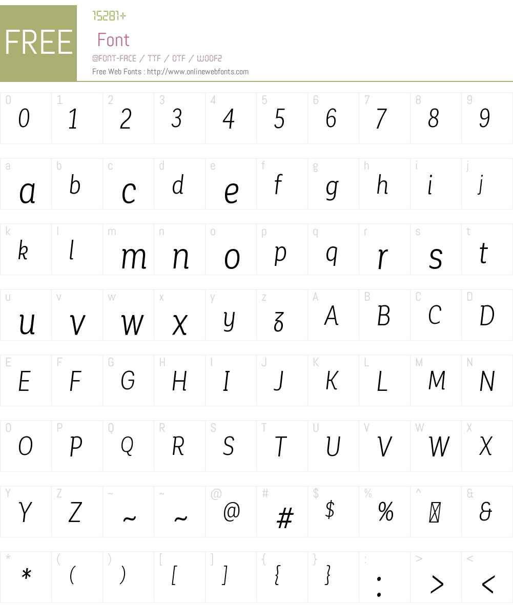 CorporativeAltCndW00-BookIt Font Screenshots