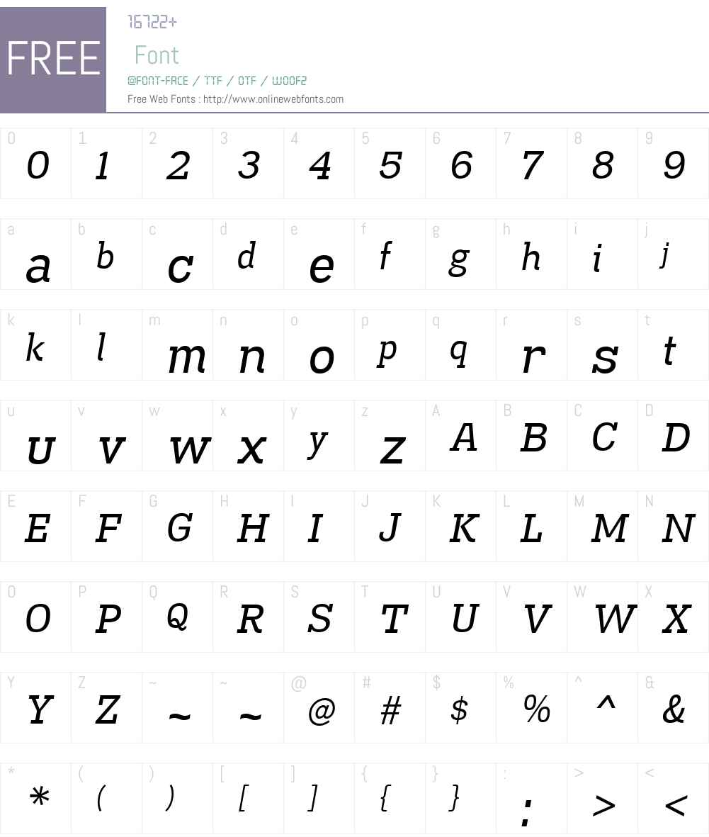 MadawaskaW00-Italic Font Screenshots