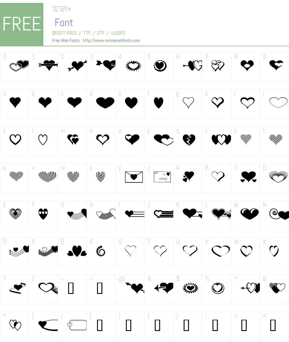 Ann's Valentines Font Screenshots