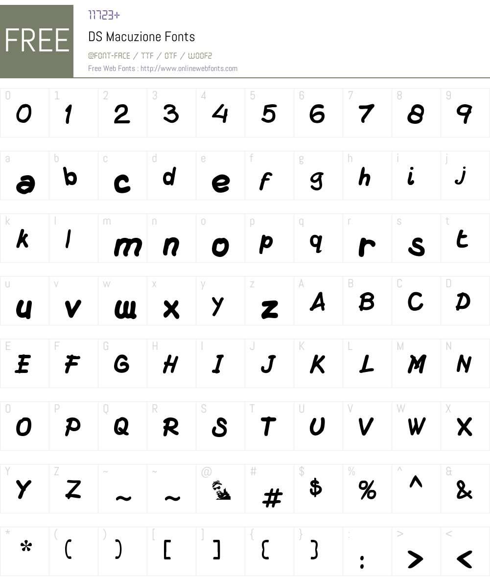 DS Macuzione Font Screenshots