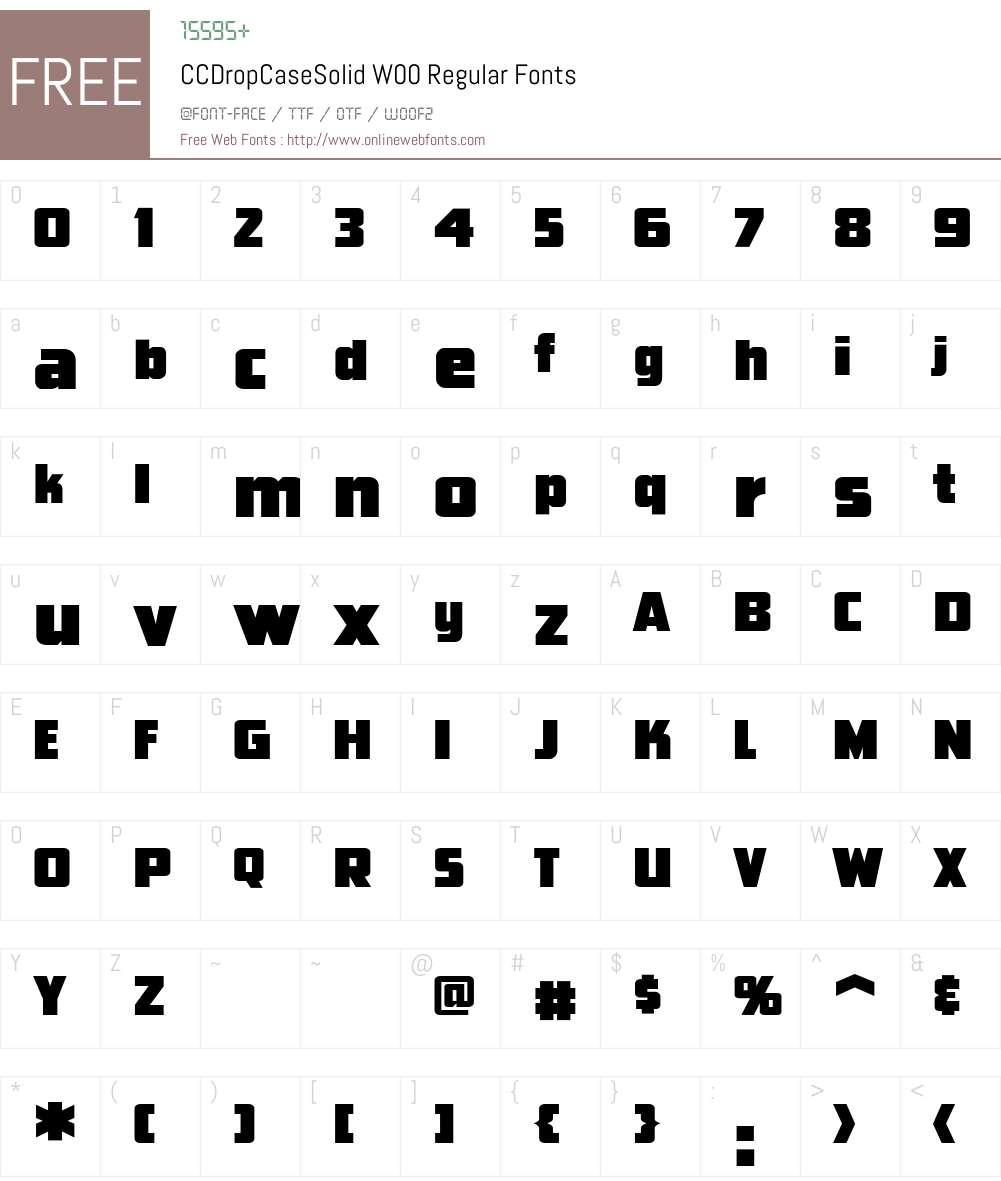 CCDropCaseSolidW00-Regular Font Screenshots