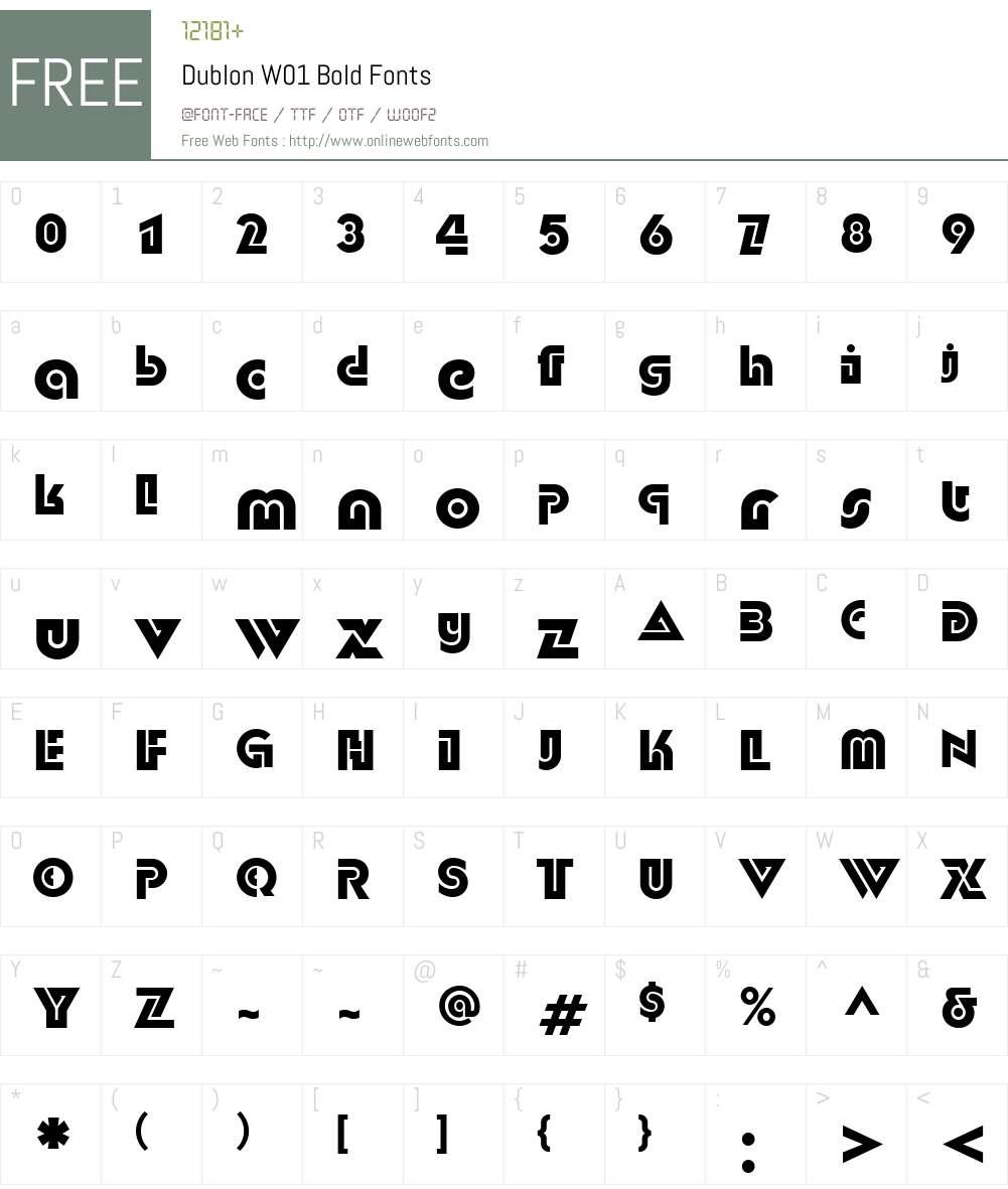 DublonW01-Bold Font Screenshots