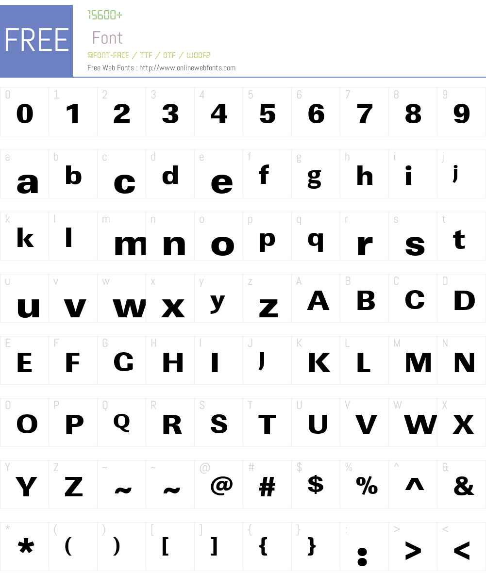 URWLinearW01-UltraBoldWide Font Screenshots