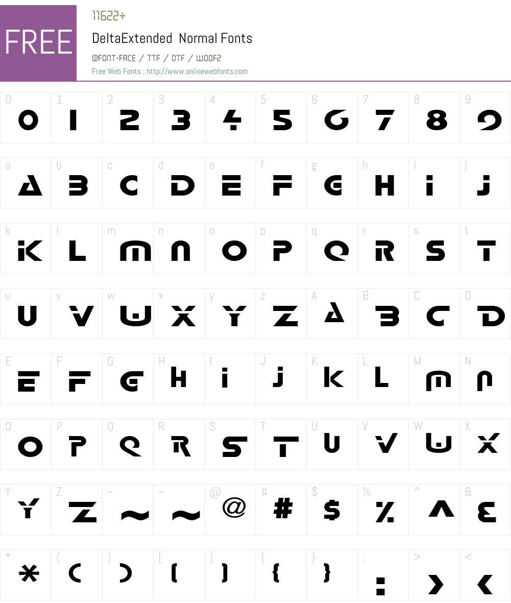 DeltaExtended Font Screenshots