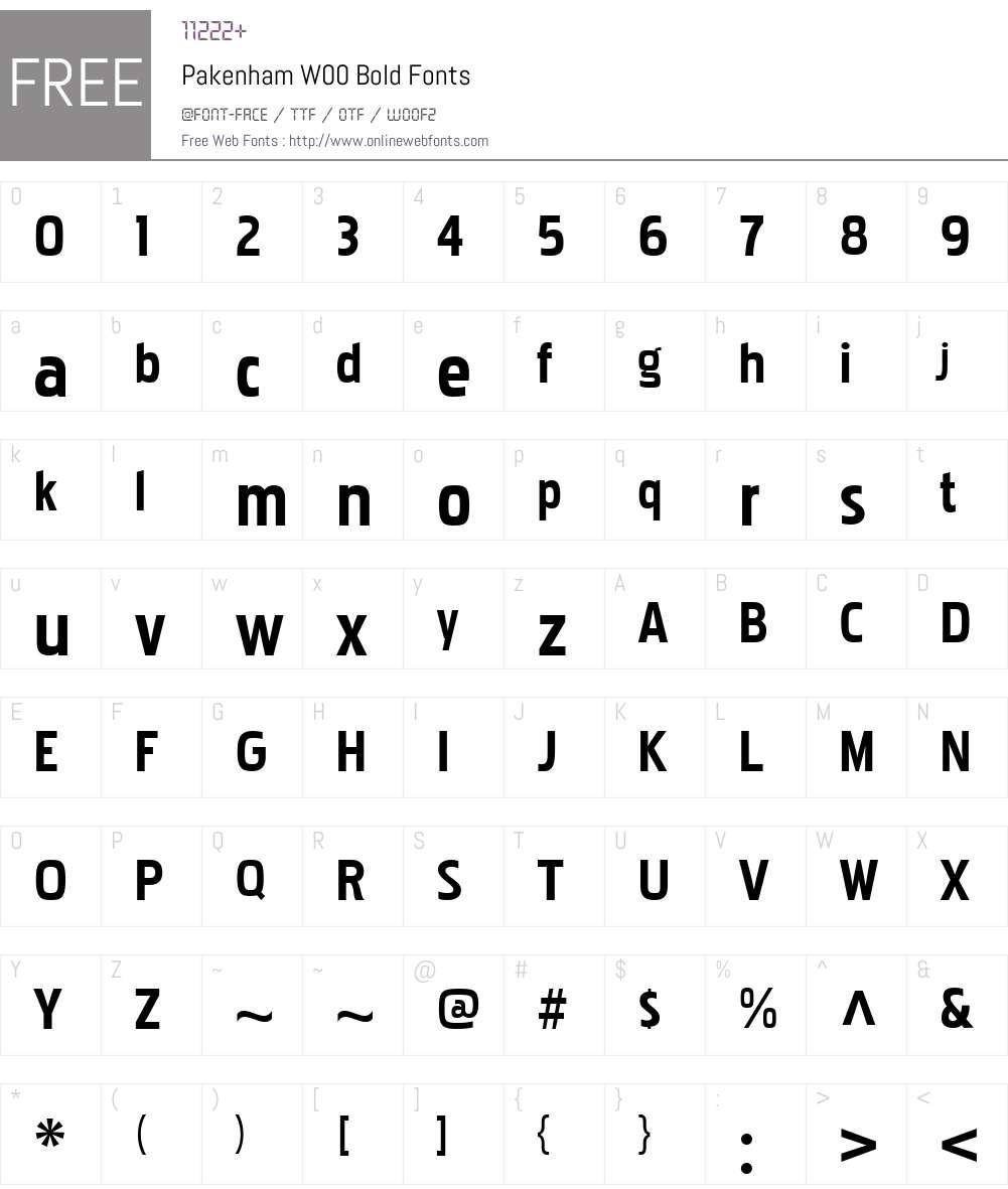 PakenhamW00-Bold Font Screenshots