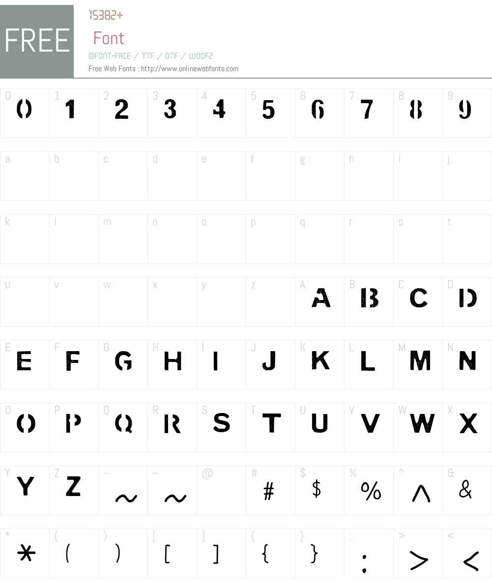 PENCIL STENCIL Font Screenshots
